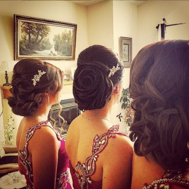 Rose hair for Bridal Services