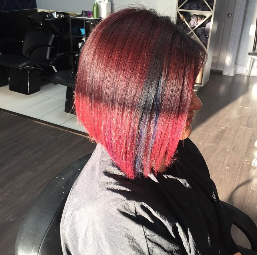La Moda Hair Short Hairstyle Red Ombre La Moda Hair Studio